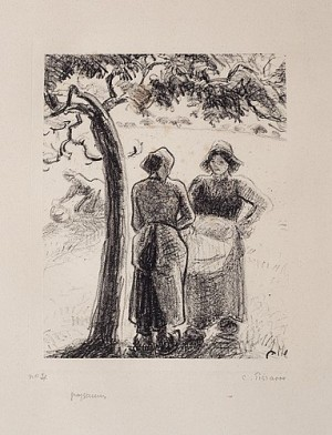 Paysannes by Camille PISSARRO