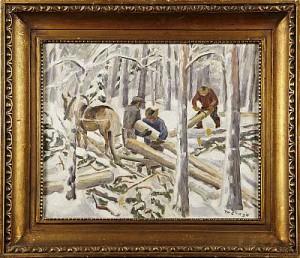 Skogsarbetare by Marcus COLLIN