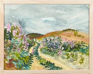 Landskapsbild Med Blommor by Thage NORDHOLM