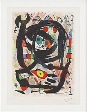 Lithographie Pour Le County Museum Of Art, Los Angeles by Joan MIRO
