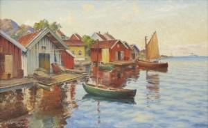 Fiskeläge I Bohuslän by Johan ERICSON