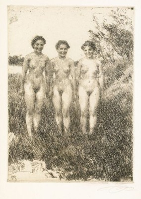 Tre Systrar by Anders ZORN