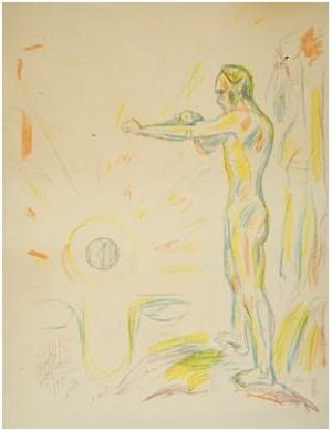 Mot Lyset by Edvard MUNCH