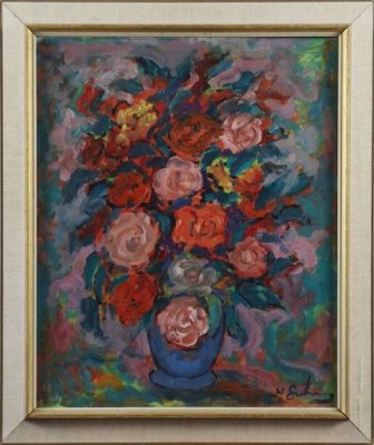 Blomsterstilleben by Nathan GUTMAN