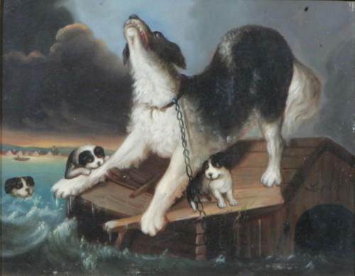 Tik Med Valpar I Landskap by Carl Fredrik KIÖRBOE