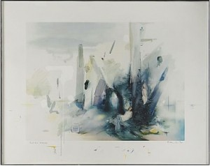 Soft Blue Landscape by Richard HAMILTON