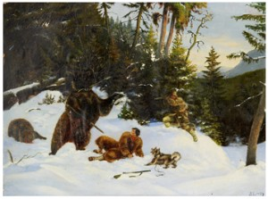 Björnjakt by Bruno LILJEFORS