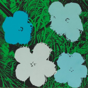 Flowers 2 (blue) by Andy WARHOL