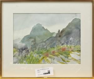 Bergslandskap by Carin ADLER
