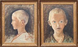 Pojkporträtt by Axel KULLE