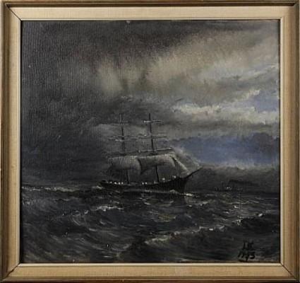 Brigg På öppet Hav by Lennart ENGBLOM