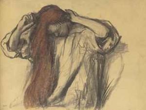 Femme Se Coiffant by Edgar DEGAS