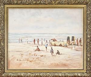 Strandmotiv by Barend Van Der BRUGGEN