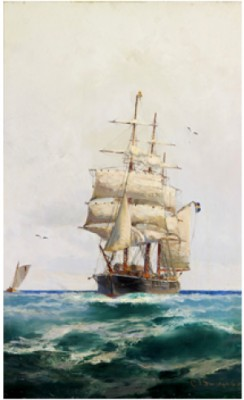 Fullriggare Till Havs by Christian Fredrik SWENSSON