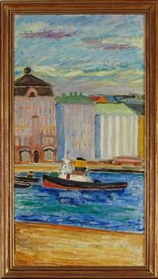Motiv Från Skeppsbron by Bengt HEGETHORN