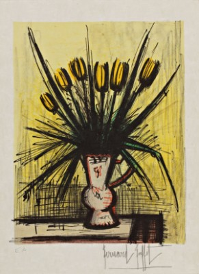 Les Tulipes by Bernhard BUFFET