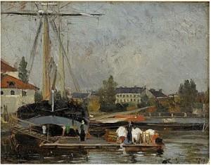 Franskt Hamnparti by Carl SKÅNBERG