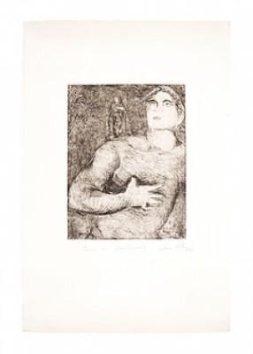 Prova Di Colore (nero) Figurkomposition by Sandro CHIA