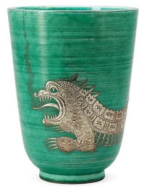 A Wilhelm Kåge 'argenta' Creamware Vase, Gustavsberg by Wilhelm KÅGE