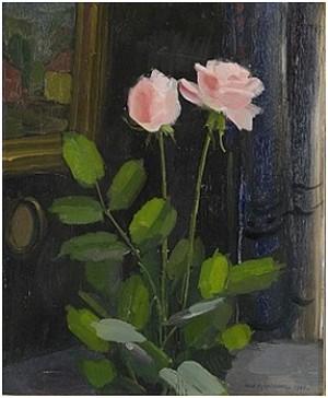 Rosa Rosor I Interiör by Olle HJORTZBERG