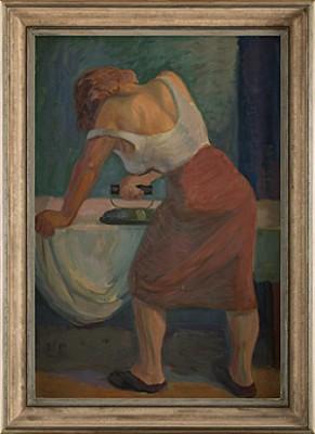 Strykande Kvinna by Onni OJA
