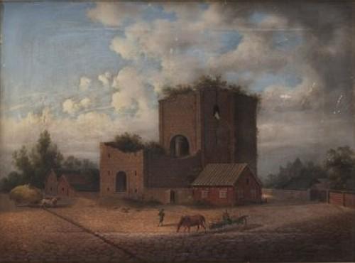 Helgeandskyrkan Visby by Carl Abraham ROTHSTÉN