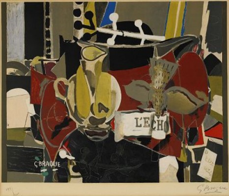 L Echo, (lit:vallier, Maeght 1041) by Georges BRAQUE