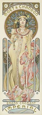 Moët & Chandon, Grand Cremant Impérial by Alphonse MUCHA