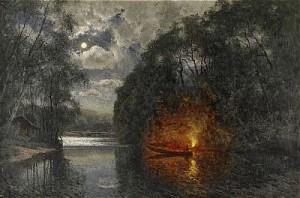 Skymningsfiske by Olof ARBORELIUS