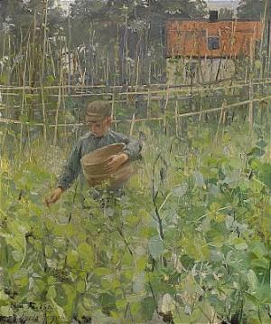 Pojke Med Korg by Gerda ROOSVAL-KALLSTENIUS
