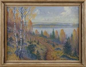 Insjölandskap by Eric RHÖNNSTAD