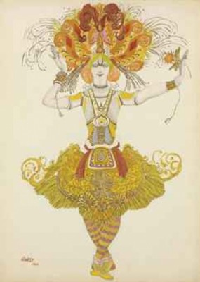Costume Design For Firebird by Léon BAKST