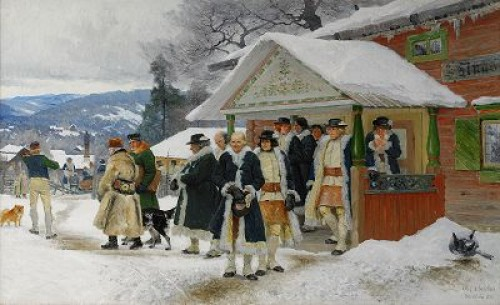Tingsavslutning - Orsa Socken, Dalarna by Olof ARBORELIUS