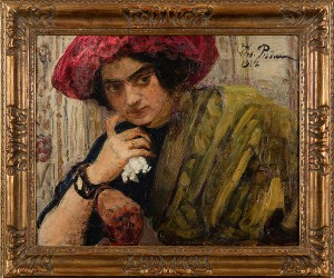 Portrait Of Isaak Brodsky's Sister by Ilya Efimovich REPIN