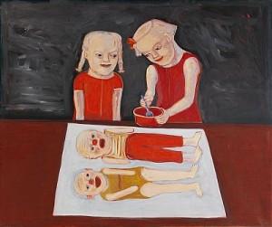 Två Flickor Med Mamma- Och Pappadockor by Lena CRONQVIST