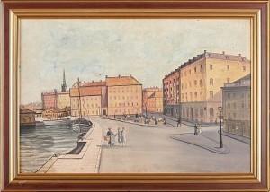 Stockholmsmotiv by Alfred WETTERSTRÖM