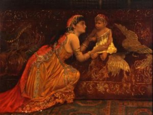 A Woman Of The Harem With Her Child by Margaret Murray COOKESLEY