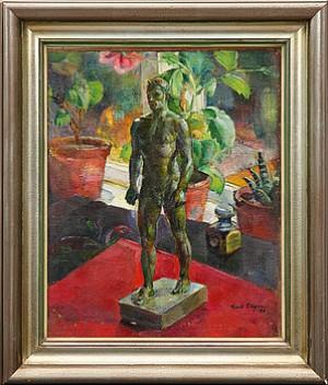 Stilleben Med Skulptur by Emil OLSSON