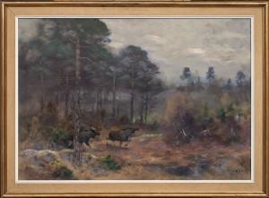 älgar I Skogslandskap by Lindorm LILJEFORS