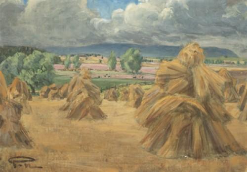 Landskap Med Hövolmar - Motiv Från Klockaregården, örberga by Prins EUGEN