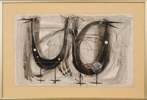 Motiv Av Två Fåglar by Roy FRIBERG