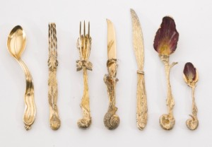 Ménagère (cutlery Set) And Cuillère Montre Molle (soft Watch Spoon): Seven Pieces Of Silverware by Salvador DALI
