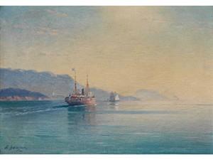 Nordische Meeresbucht In Der Sonne by Alexei Vasilievich HANZEN