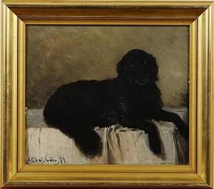 Hundporträtt by Axel Gillis HAFSTRÖM