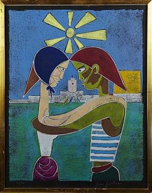 Omfamnande Par by Jean COCTEAU