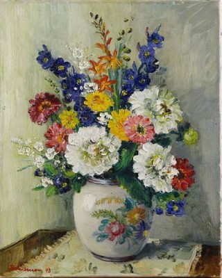 Stilleben Med Blommor by Carl Einar 'Figge' FREDRIKSSON