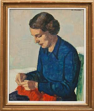 Damporträtt, Enligt Uppgift Konstnärens Hustru Gerda by Johan JOHANSSON