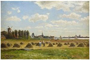 Bönder Som Skördar - Holland by Carl SKÅNBERG
