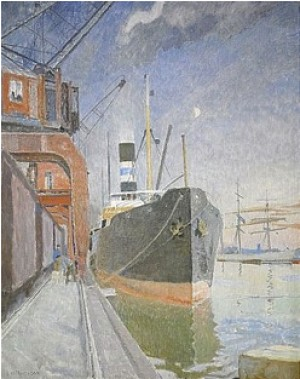 Götaångare I Hamn by Carl WILHELMSON
