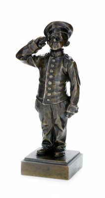 A Bronze Sculpture Of A Young Cadet The Base Marked Bylevski by Feodor Sigizmundovich BYLEVSKY